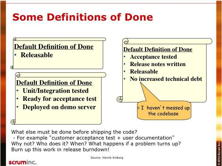Definition of Done - Scrum Inc