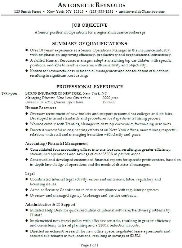 Insurance Resume - cv01.billybullock.us