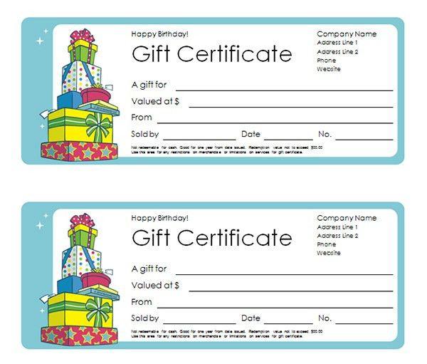 Printable Gift Certificate Templates | Sampleprintable.com