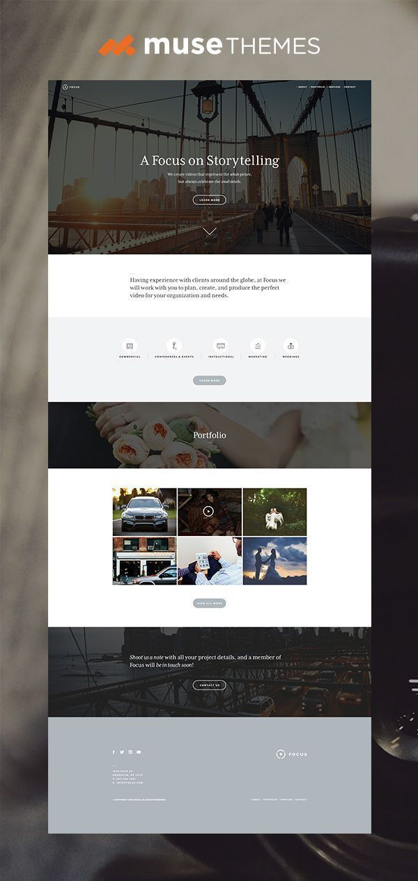 93 best Adobe Muse - Templates images on Pinterest | Adobe muse ...