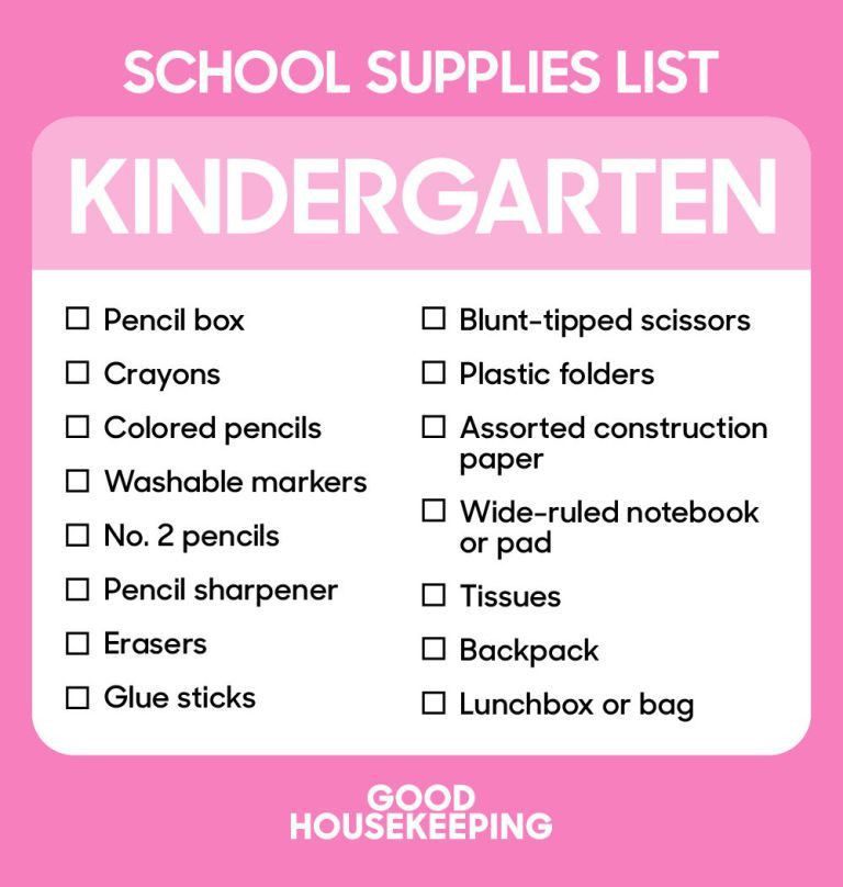 Back to School Supplies List - Best School Shopping Checklist