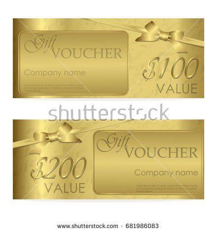 Gift Voucher Template Design Gift Box Stock Vector 370690130 ...