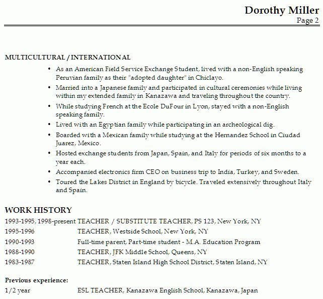 experience resume examples best resume sample. sample resume esl ...