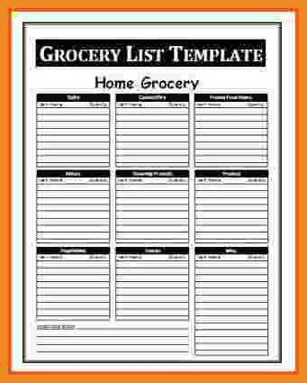 grocery list template word | art resume examples