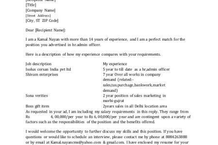 Cover Letter Requirements Salary Requirements Resume Stonevoicesco ...