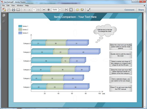 Bar Chart Templates for PDF