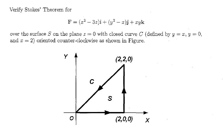 vector analysis - Verify Stokes' Theorem, example - Mathematics ...