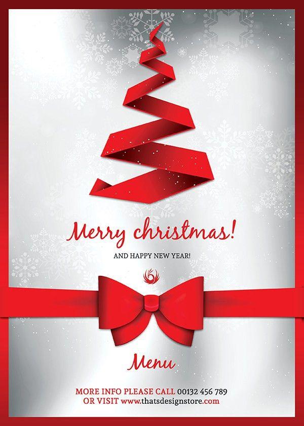 Christmas Flyer Template. Christmas Eve Menu Template, Christmas ...