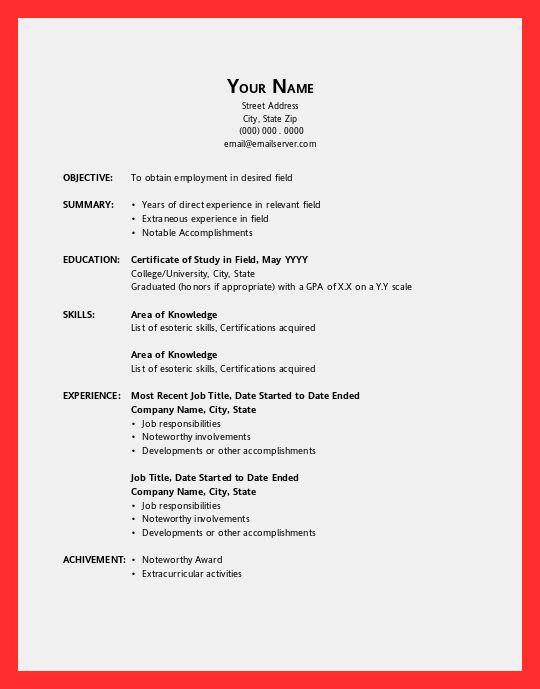 office resume sample   good resume format