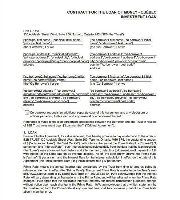26+ Great Loan Agreement Template