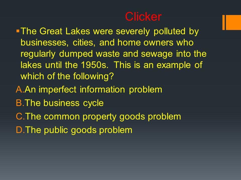 1 1. Imperfect Information 2. Externalities 3. Public Goods 4 ...