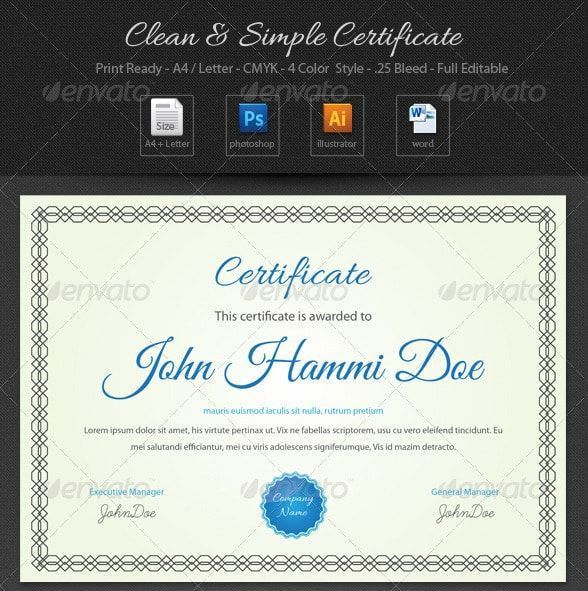 13 best Certificate of Participation Template Word, EPS, AI images ...