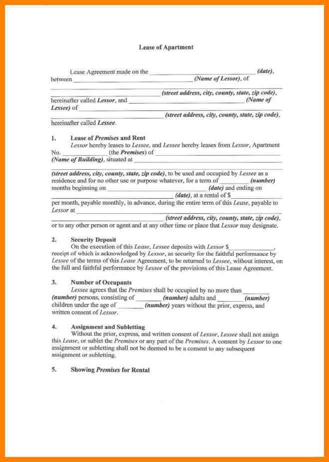 5+ apartment lease agreements | resume emails
