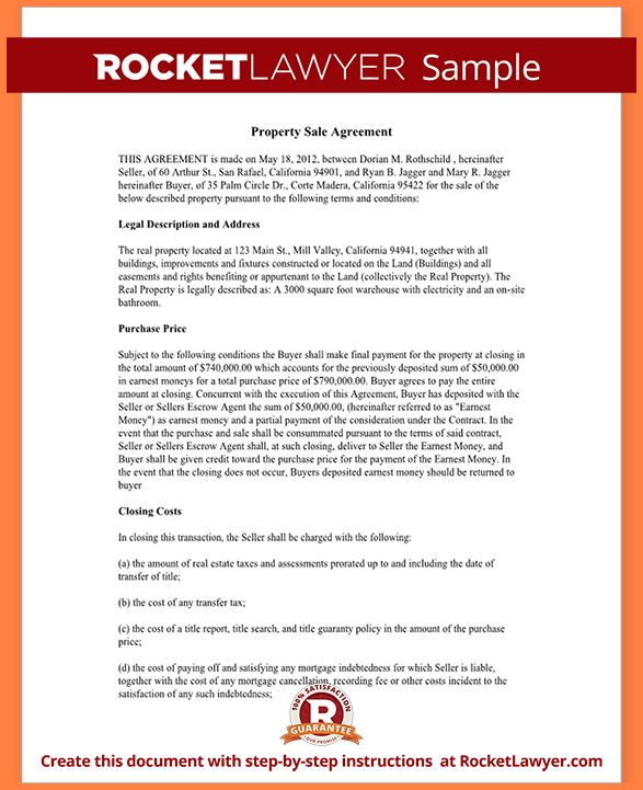Free Printable Real Estate Purchase Agreement.Sample Real Estate .