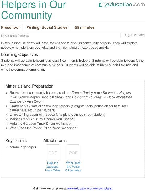 Lesson Plans for Preschool Writing | Education.com