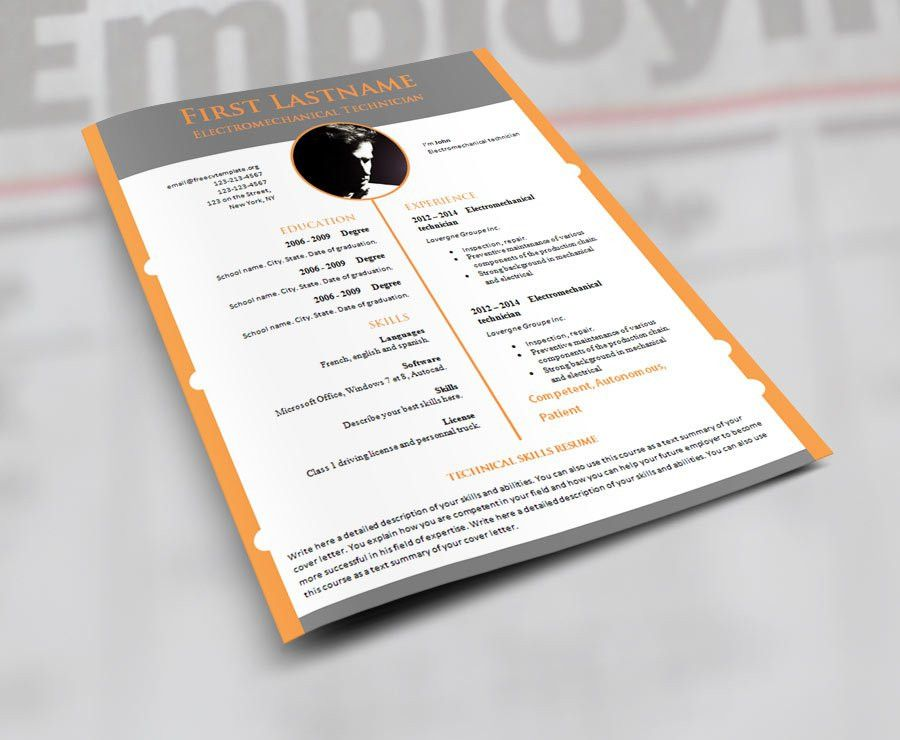 CV resume templates – Page 2 – freecvtemplate.org