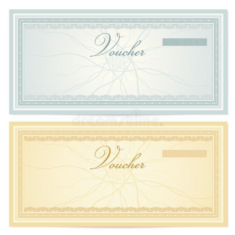 Gift Certificate (Voucher) Template. Pattern Royalty Free Stock ...