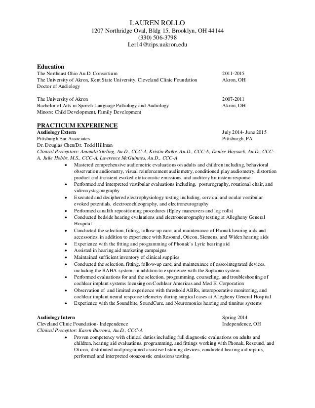 Audiologist Assistant Cover Letter