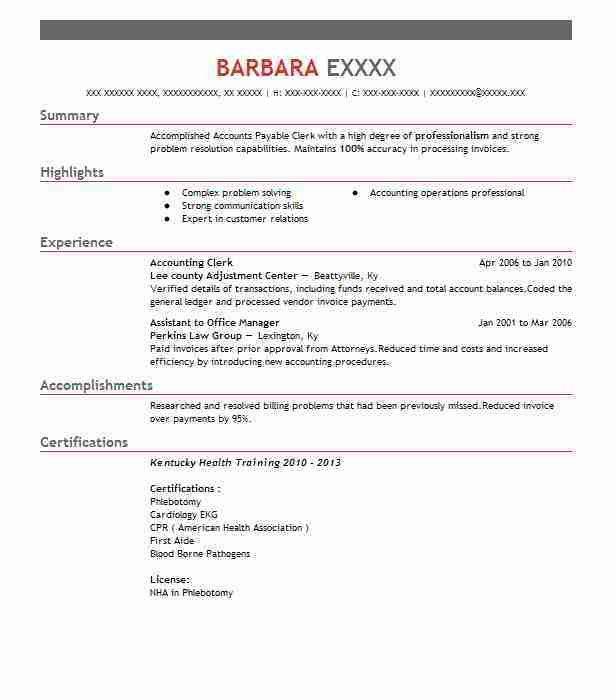 Accounting Clerk Resume 13 - uxhandy.com
