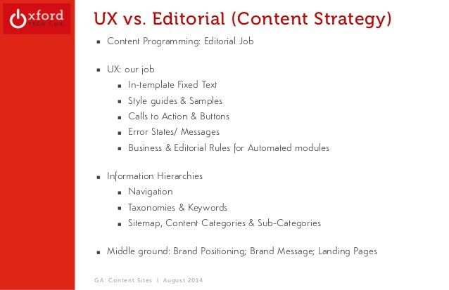 Content Strategy + Navigation Design: UX Overview + Considerations