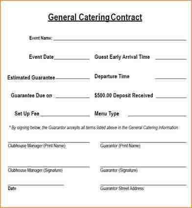 8+ catering contract template | academic resume template