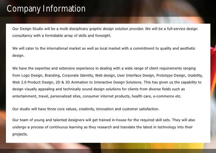 Sample Design Studio Proposal