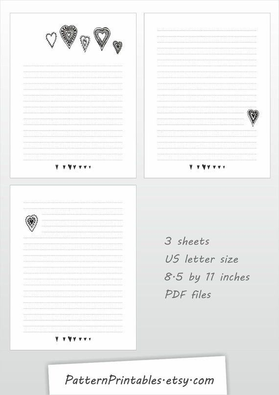 3 Lined Writing Paper Free Printable Lined Writing Paper Free – Lined Letter Writing Paper