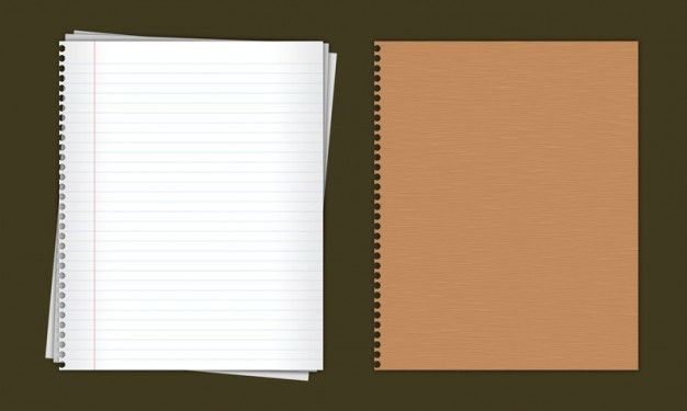Lined paper notebook in PSD PSD file | Free Download