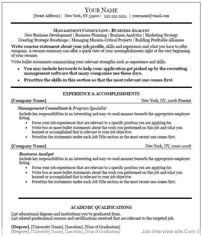 Teacher Resume Template Microsoft Word - Best Resume Collection