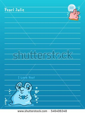 Vector Printing Paper Note Cute Paper Stock Vector 563504143 ...