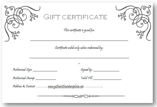 9 Best Images of Custom Gift Certificate Template Free - Free Gift ...