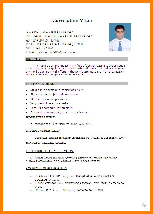 Download Resume Format Word | haadyaooverbayresort.com