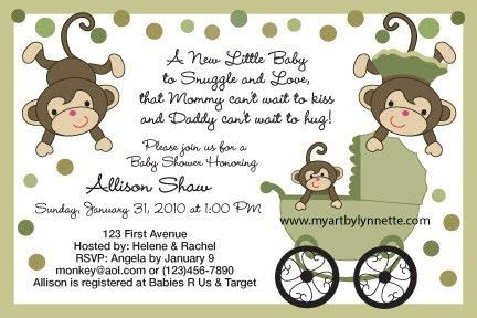 Free Printable Monkey Baby Shower Invitations | christmanista.com