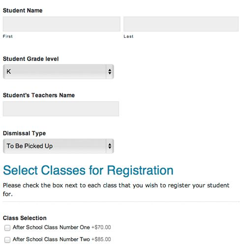 After School Enrichment Online Registration Forms » Digital PTO ...