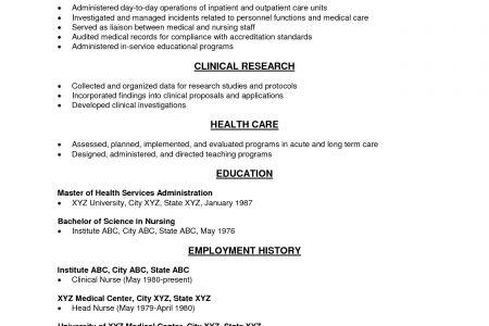 Seniors Long-Term Care Resume - Reentrycorps