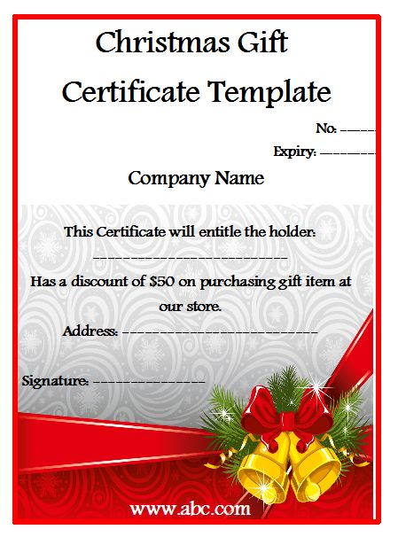 5 Free Christmas Shopping Gift Certificate Templates – My Template ...