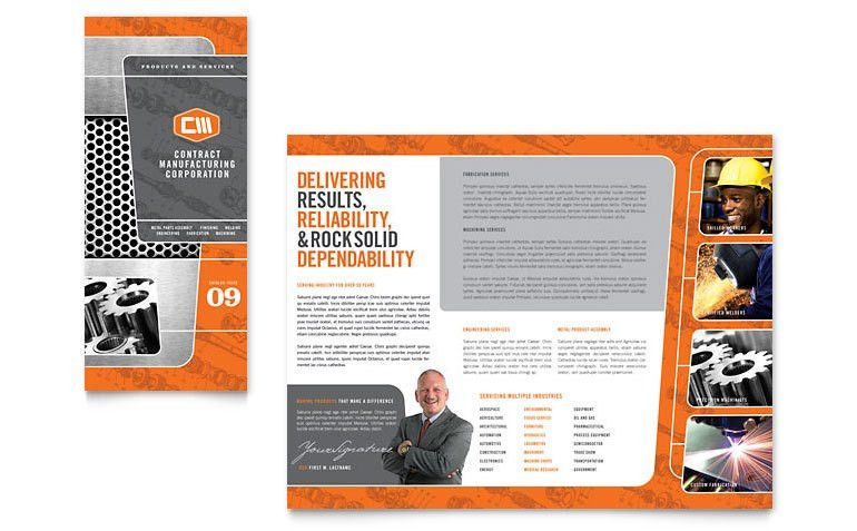 Manufacturing Engineering Tri Fold Brochure Template - Word ...