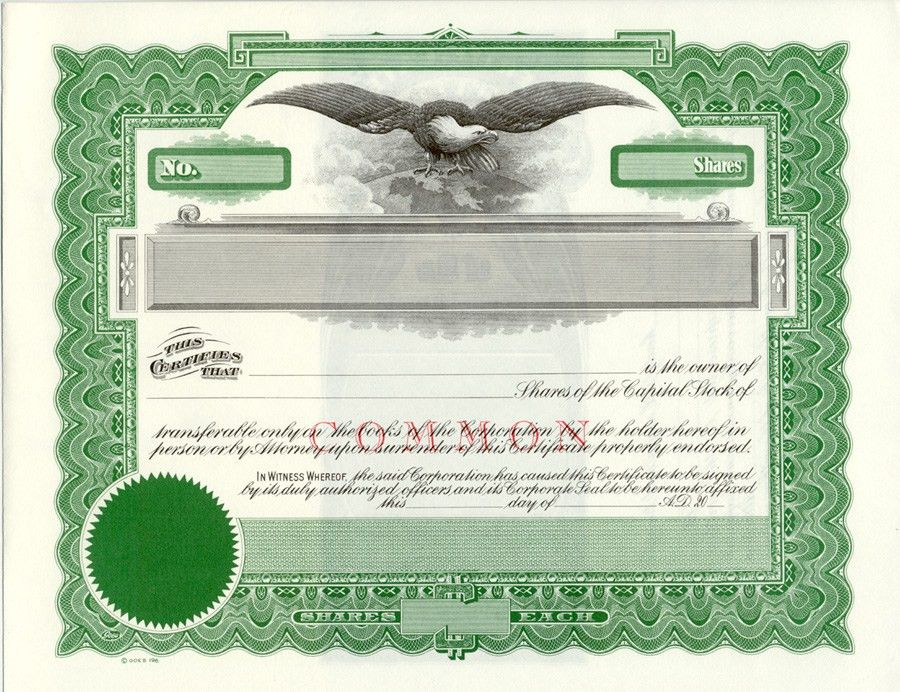 Lawyers Stationery -- Stock Certificates, Since 1911