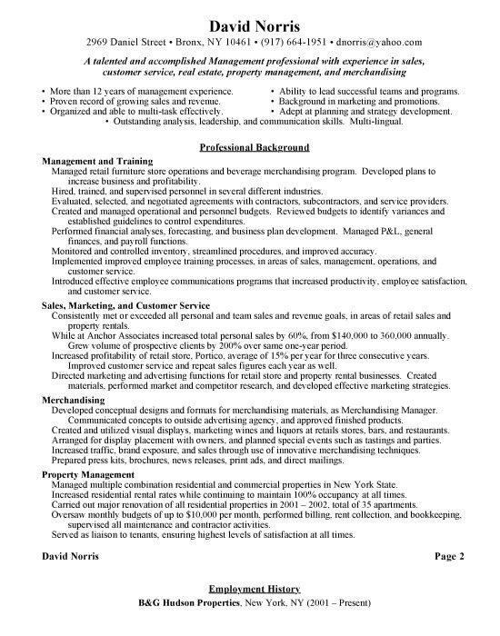 Retail Manager Skills Resume Example 7 | ilivearticles.info