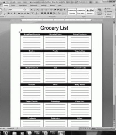 21+ Free Grocery list Template - Word Excel Formats
