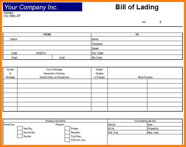 Bol Template, 14+ bill of lading template word | pay stub template ...
