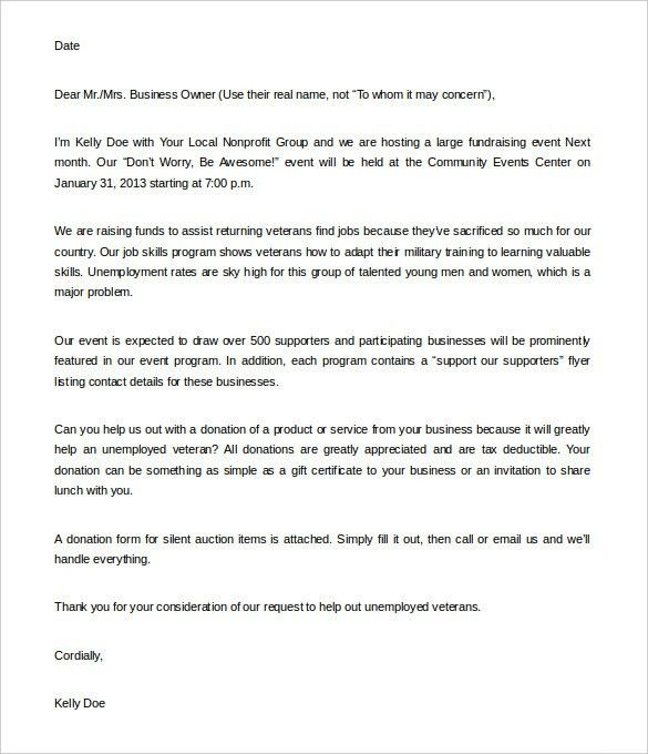10+ Fundraising Letter Templates – Free Sample, Example Format ...