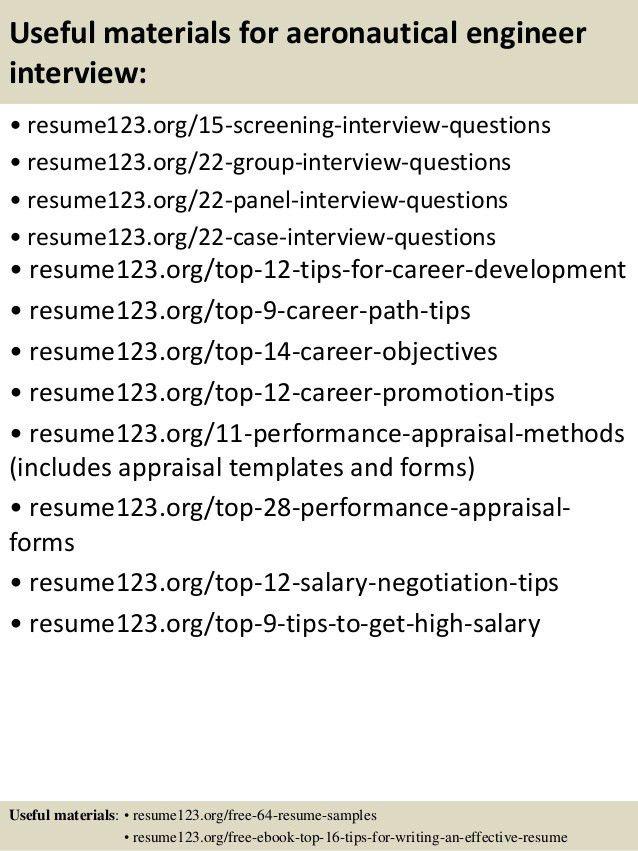 Top 8 aeronautical engineer resume samples