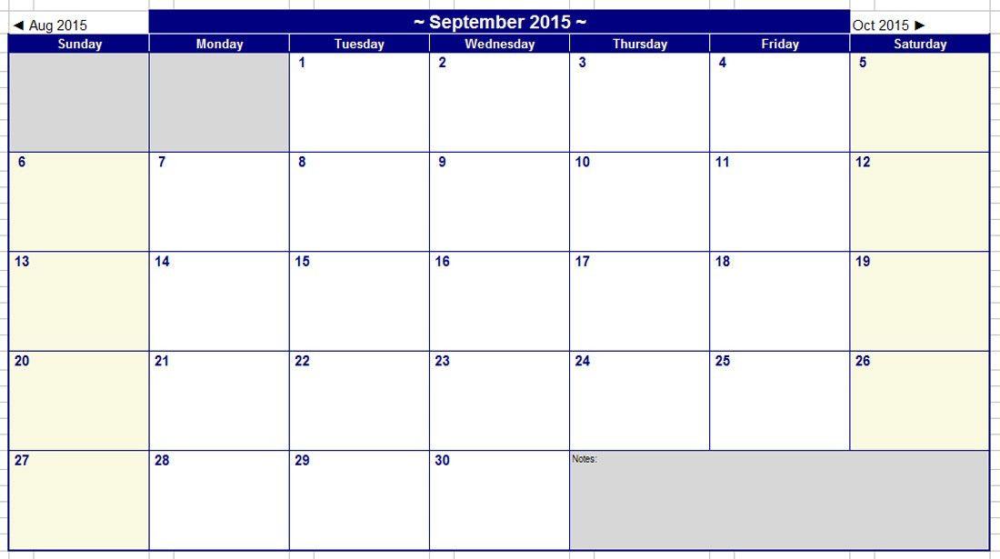 2015 Calendar Printable Template - Contegri.com