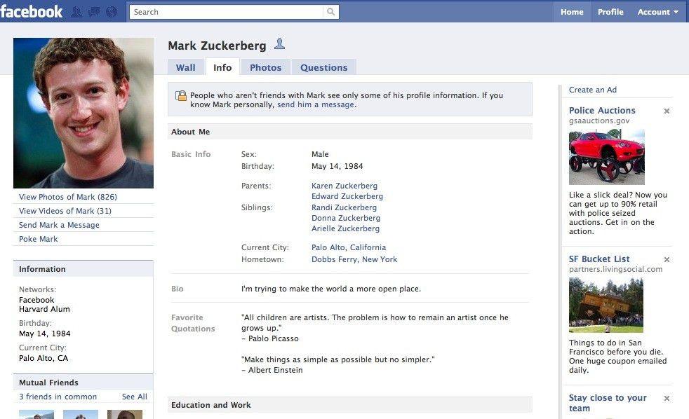Facebook Bio Template - Contegri.com
