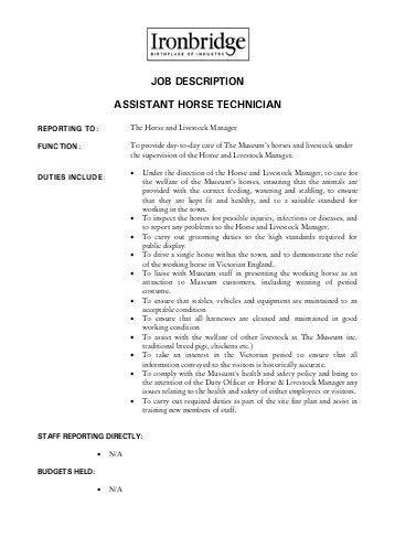 JOB DESCRIPTION – Production Technician - Biowin