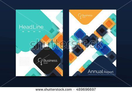 Cover Design Annual Report Cover Brochure Stock Vector 448649659 ...