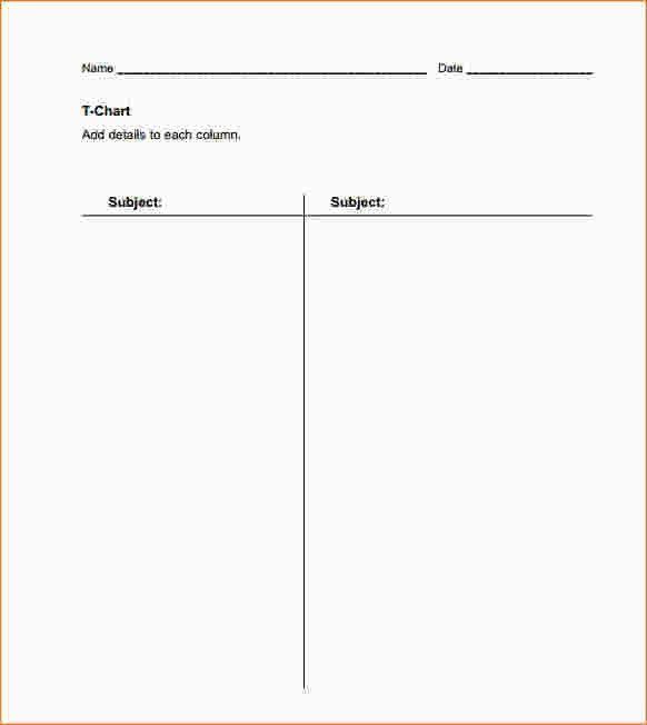 6+ T Chart Template | Ganttchart Template
