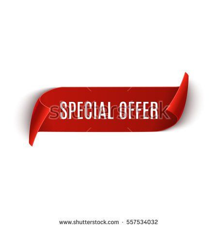 Special Offer Vector Ribbon Design Template Stock Vector 557534032 ...