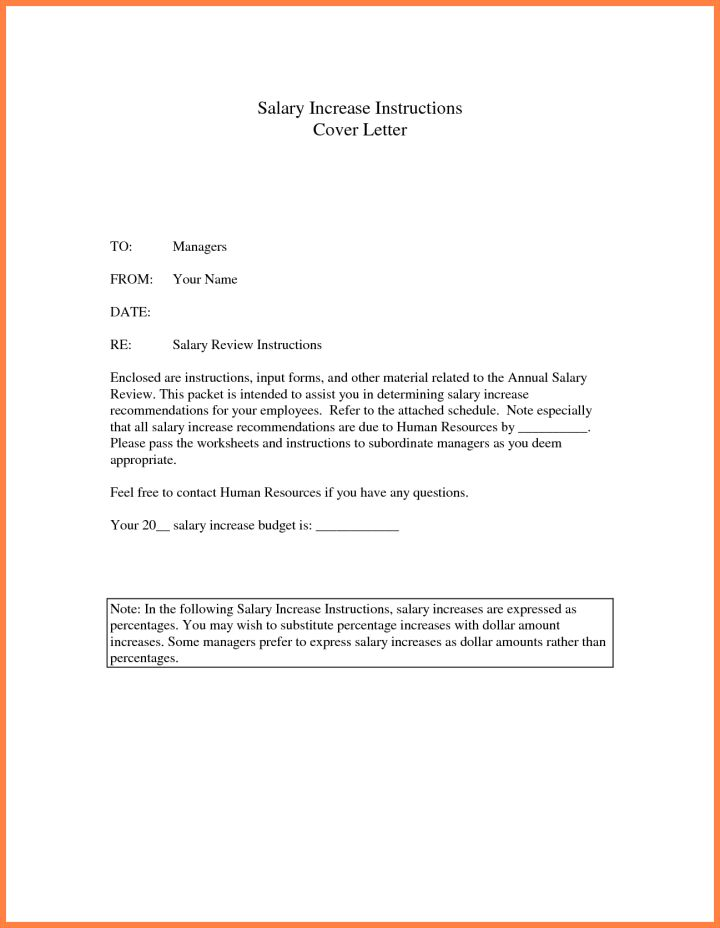Salary Increase Letter Template From Employer To Employee South ...